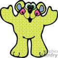 Silly cartoon bear