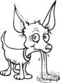 black and white chihuahua cartoon