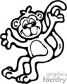 black and white posing monkey