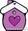 Purple birdhouse