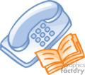 business office supplies work phone phones book   bc_052 clip art business supplies  gif, eps