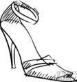 Sketched high heels