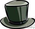 clothing top hat hats magic magician   clthg063c clip art clothing