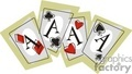 4 aces playing cards