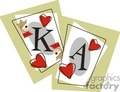 king and an ace playing card