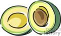 Sliced avocado.