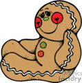 Gingerbread Man Sitting Happy