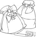 Black and White Christmas Gift Bags