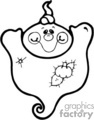 fat little ghost with arms up gif, jpg, eps