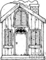 black and white haunted house gif, jpg, eps