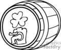 black and white old keg of irish beer gif