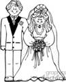 Black And White Wedding Couple