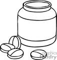 medical medicine medicines jar jars bottle bottles pill pills   helth012 clip art medical  gif, jpg