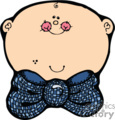 Country Baby with a Big Blue Bow Tie