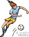 occupations work working occupational soccer girl girls sports   working_031-c clip art people occupations  gif