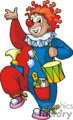 funny cartoon circus clown
