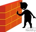 shadow people silhouette wall brick holding   people-118 clip art people shadow people