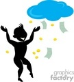 shadow people silhouette working work humans money rain raining weather fantasy dream dreaming dollars coins dancing   people-152 clip art people shadow people