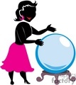 Woman looking at a crystal ball