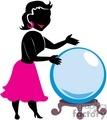 Woman looking at a crystal ball