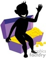 shadow people silhouette working work humans money treasure gold chest   people-168 clip art people shadow people