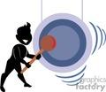man hitting a gong gif, jpg, eps