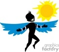 Boy trying to fly close to the sun