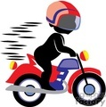 Boy riding a motorcycle