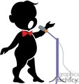 shadow people silhouette working work humans singer singers singing star bowtie bow tie microphone mic opera   people-212 clip art people shadow people  gif, jpg, eps