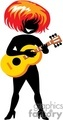 shadow people silhouette working work humans sound rock star guitar guitars music musician musicians acoustic orange hair afro   people-266 clip art people shadow people  gif, jpg, eps