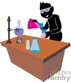 shadow people silhouette working work humans chemist chemistry test tube beakers science scientists testing   people-328 clip art people shadow people