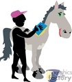 man washing a horse gif, jpg, eps