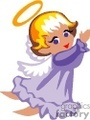 little angel with a purple robe and wings
