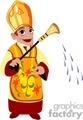A catholic priest sprinkling holy water