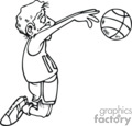 cartoon basketball player passing the ball