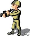 Army man holding a gun