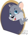 grey mouse in its mouse hole