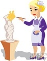 people occupations work working clip art maid maids museum museums statue statues dusting dust cleaning