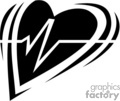 EKG heart symbol