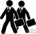 business men going to work