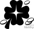 a black and white four leaf clover surrounded by coins gif, png, jpg, eps