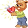 Teddy bear holding a valentine's heart