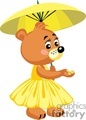 little girl teddy walking with a umbrella gif, png, jpg, eps
