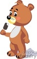 teddy bear eating ice cream gif, png, jpg, eps