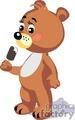 teddy bear eating ice cream