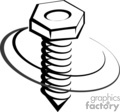 vector clip art vinyl-ready cutter black white construction bolt bolts nut nuts tool tools