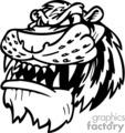 snarling tiger mascot