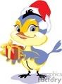 bird wearing a Santa hat