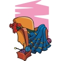 flowers in a chair for valentines day. gif, png, jpg