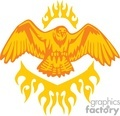 orange eagle with orange flames
